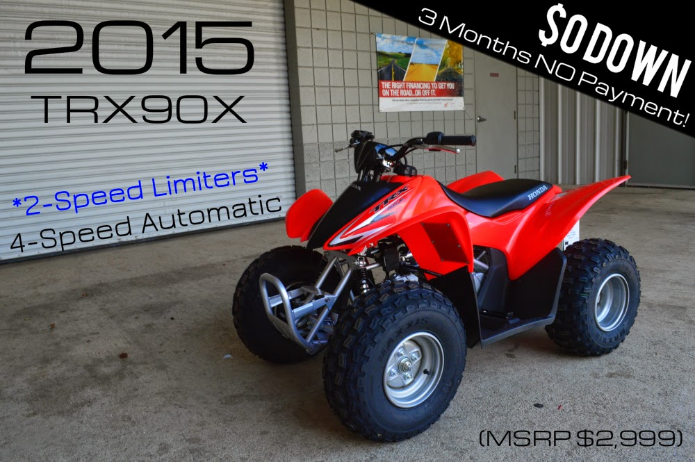 2015 Honda TRX90 For Sale   Chattanooga TN GA AL ATV Dealer 2015 TRX90X  Kids / Youth Four Wheeler (TRX90XF)