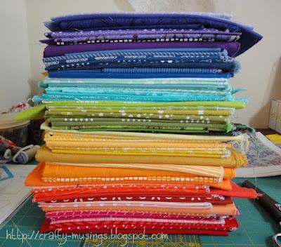pile of pretty fabrics