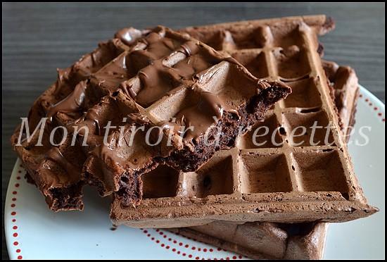 gaufre au chocolat