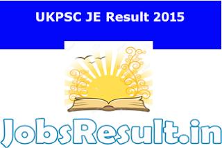 UKPSC JE Result 2015