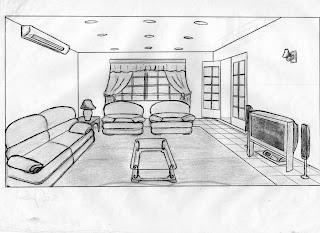 Desenhos Preto e Branco decoração Sala projeto Colorir