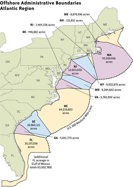 The Birdist Defining East Coast Pelagic Borders - East coast state map