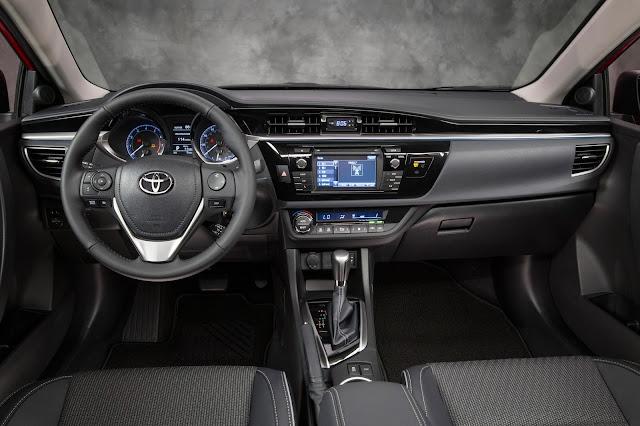 Interior view of 2016 Toyota Corolla S