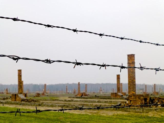 Birkenau, chimeneas de los barracones