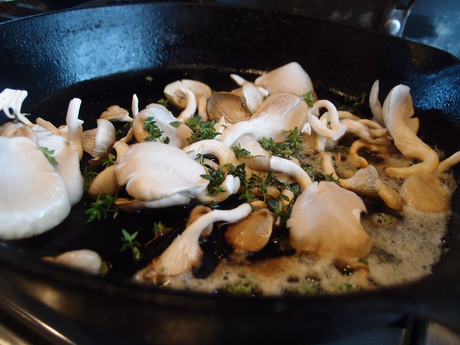 how to cook oyster mushrooms with eggs