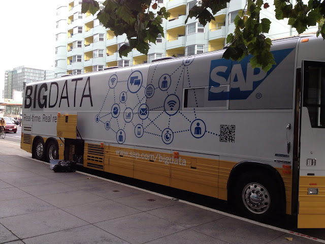 "Bus decorado con ""SAP Big data"""