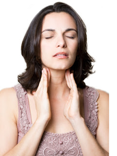 Thyroid pain while yawning