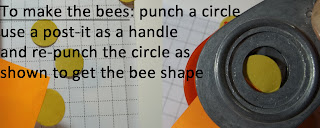 How to use a circle punch to make a Punch Art Bee body