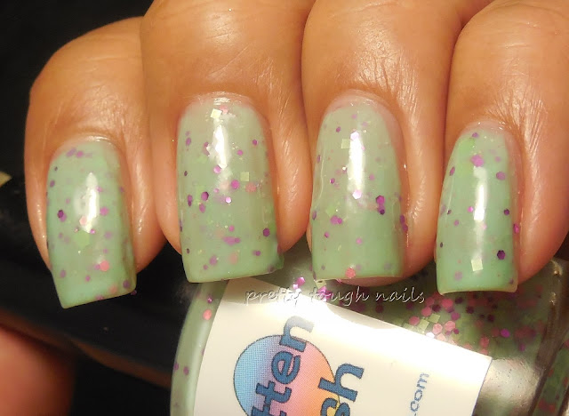 Smitten Polish Pink Goes Good With Green