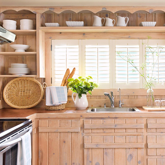 New Home Interior Design: Cottage Kitchen Design Ideas