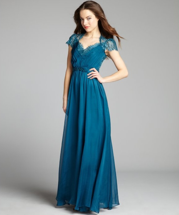 My RepliKate: Teal Jenny Packham Evening Gown
