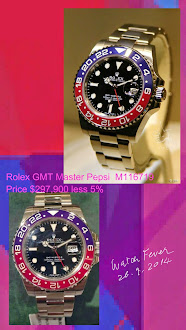 Discount is available for Rolex GMT Master II in White Gold now