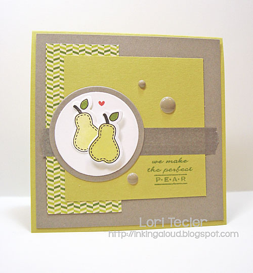 Perfect Pear card-designed by Lori Tecler/Inking Aloud-stamps and dies from Clear and Simple Stamps