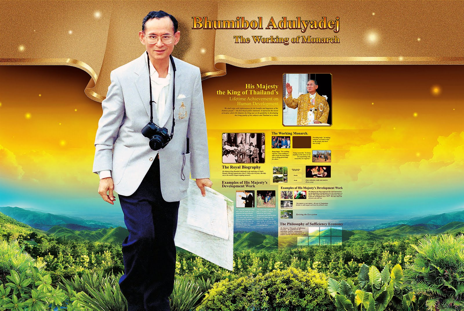 KING BHUMIBOL ADULYADEJ EXHIBITION : THE WORKING OF ...