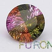 Millennium cut mixed colored cz gemstones