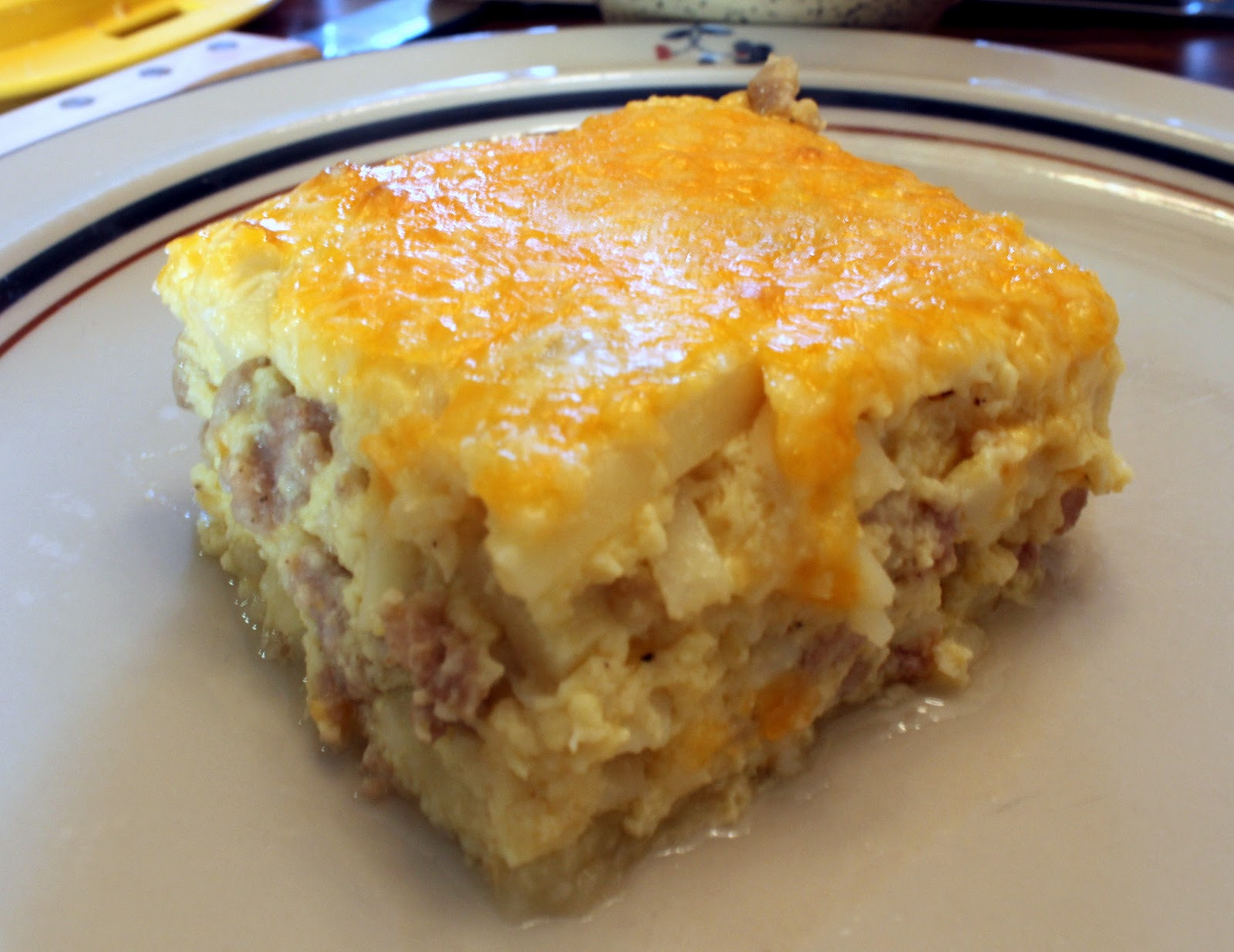 Sausage & Cheese Hash Brown Breakfast Bake - Julie's Eats & Treats