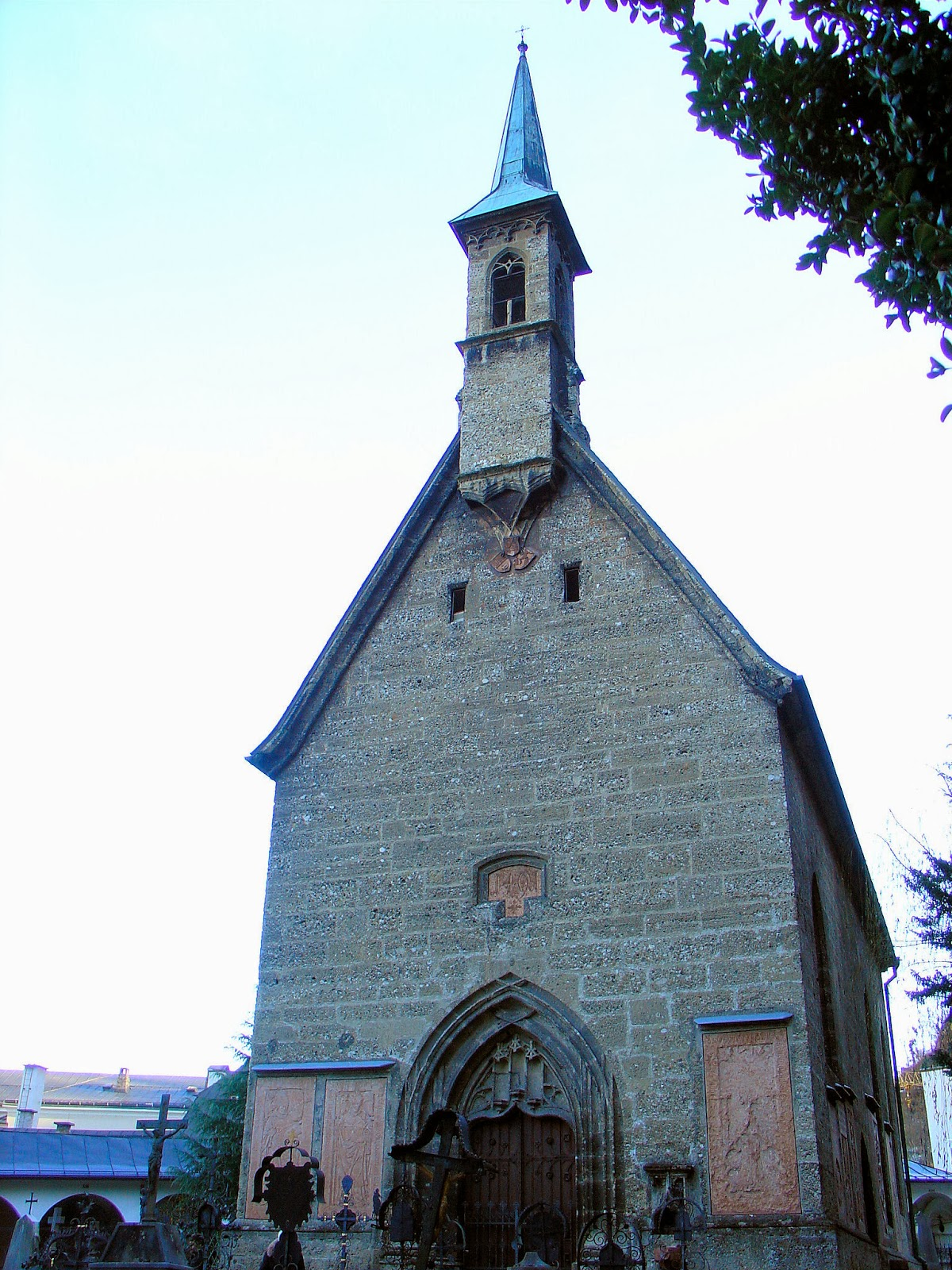 The Margaret Chapel inside Saint Peter's Cemetery, just beyond the Kapitelplatz.