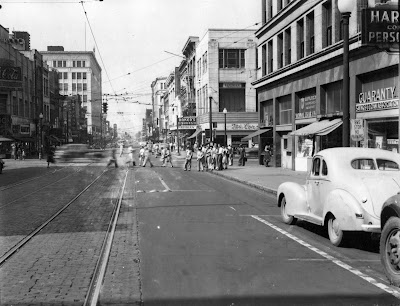 Photo of downtown Birmingham, 1940