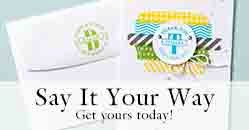 Say It Your Way - NEW personalized stamps!