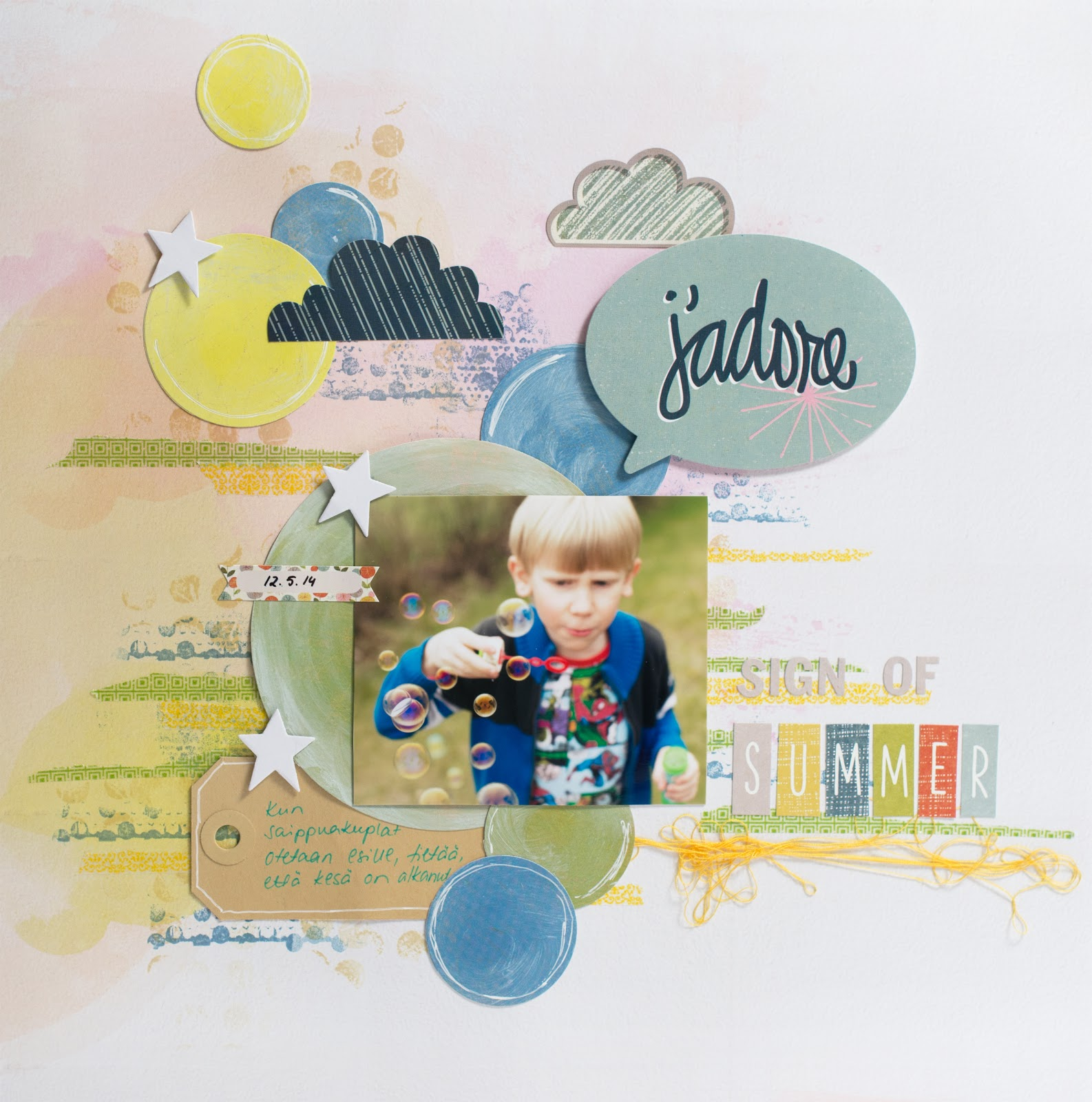 Scrapbooking Layout: Sign Of Summer