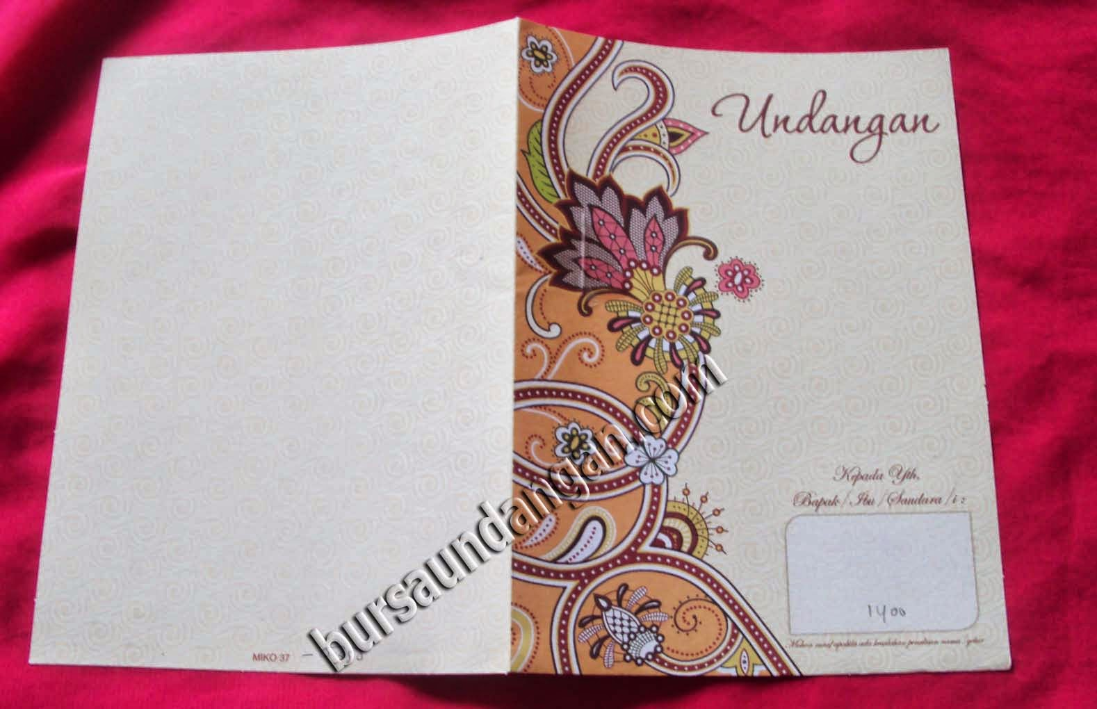 Desain Kartu Undangan Pernikahan Modern - Kode MIKO 37   BURSA KARTU ...