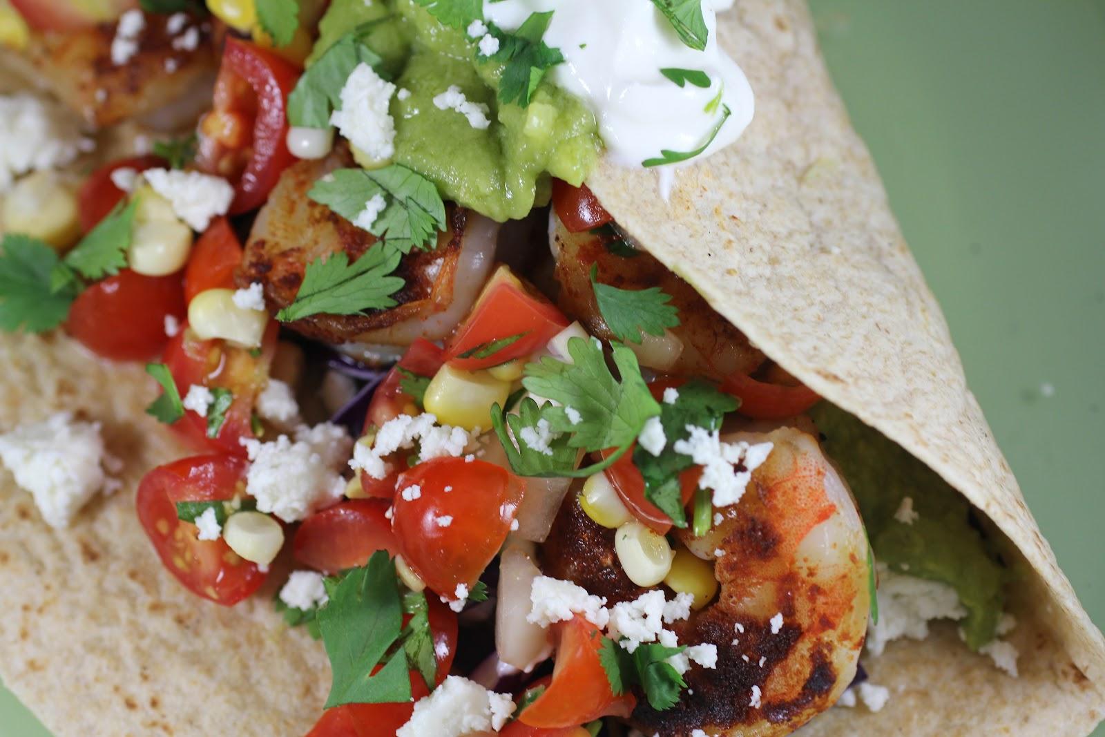 Crostini and Chianti: Shrimp Tacos