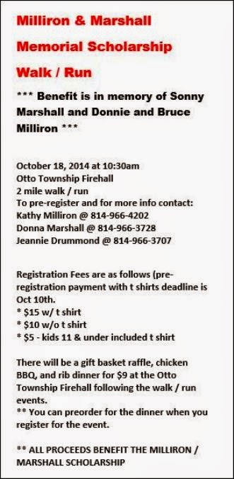 10-18 Millron & Marshall 5K walk/Run