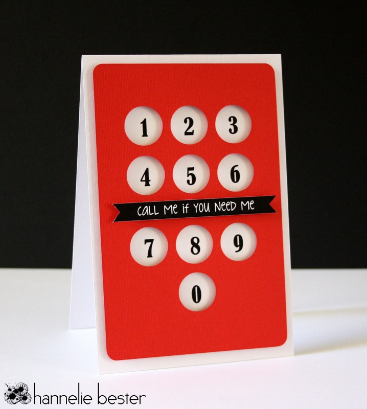 Call me if you need me card