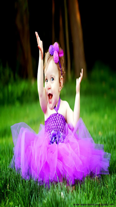 Lovely baby girl in purple dress iphone 6 hd wallpapers  iPhone