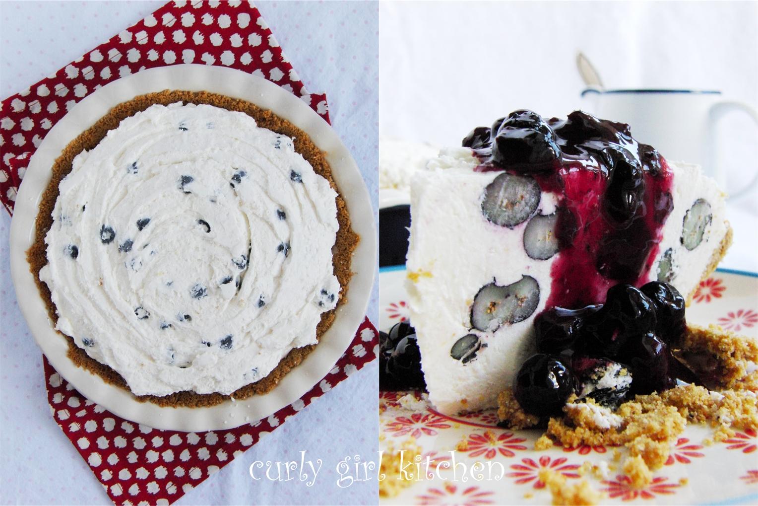 Curly Girl Kitchen: Blueberry Cheesecake Ice Cream Pie