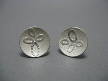 Circular leaf earrings, silver, £60