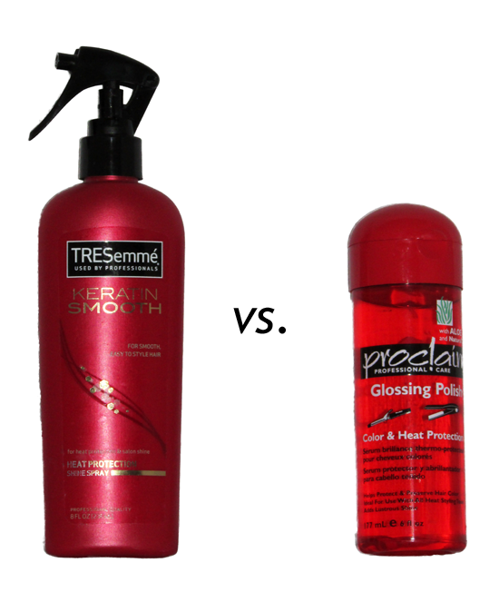 TRESemme Keratin Smooth vs. Proclaim Glossing Polish Color