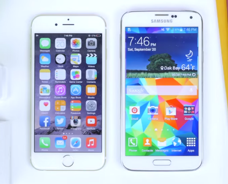 berita smartphone Samsung Galaxy S5 VS Apple Iphone 6