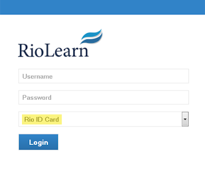 image of RioLearn web page