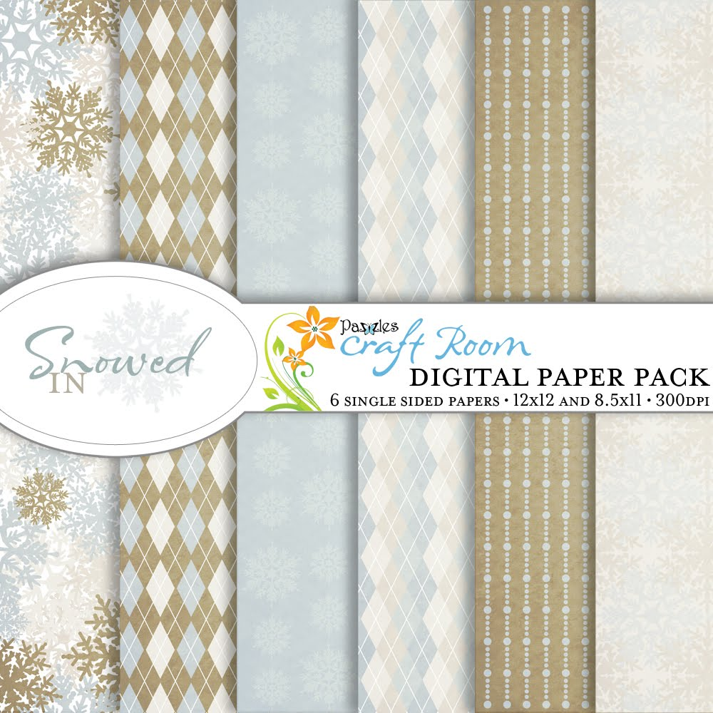 Snowed In Digital Paper Pack