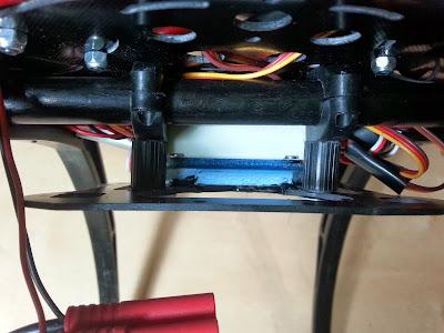 controladora quadcopter colocacion