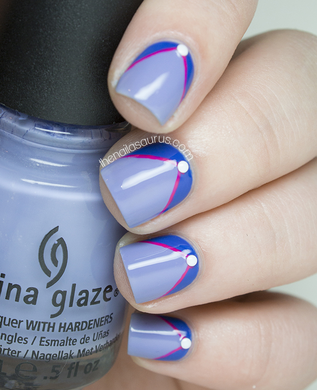 China Glaze Fade Into Hue with Nail Art