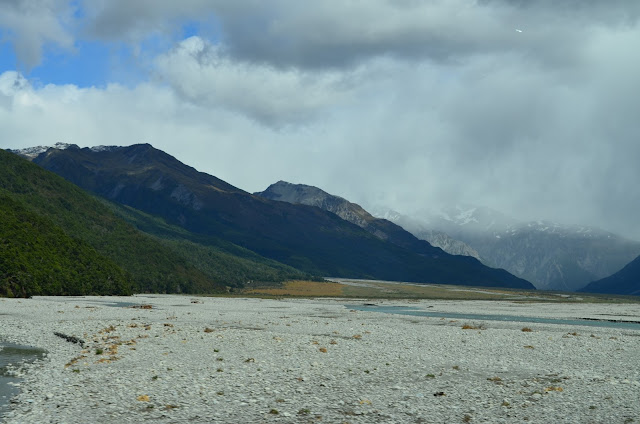 A dried up lake, along the way to Greymouth, New Zealand