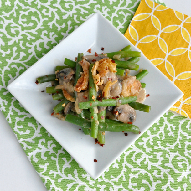 light and tasty green bean casserole