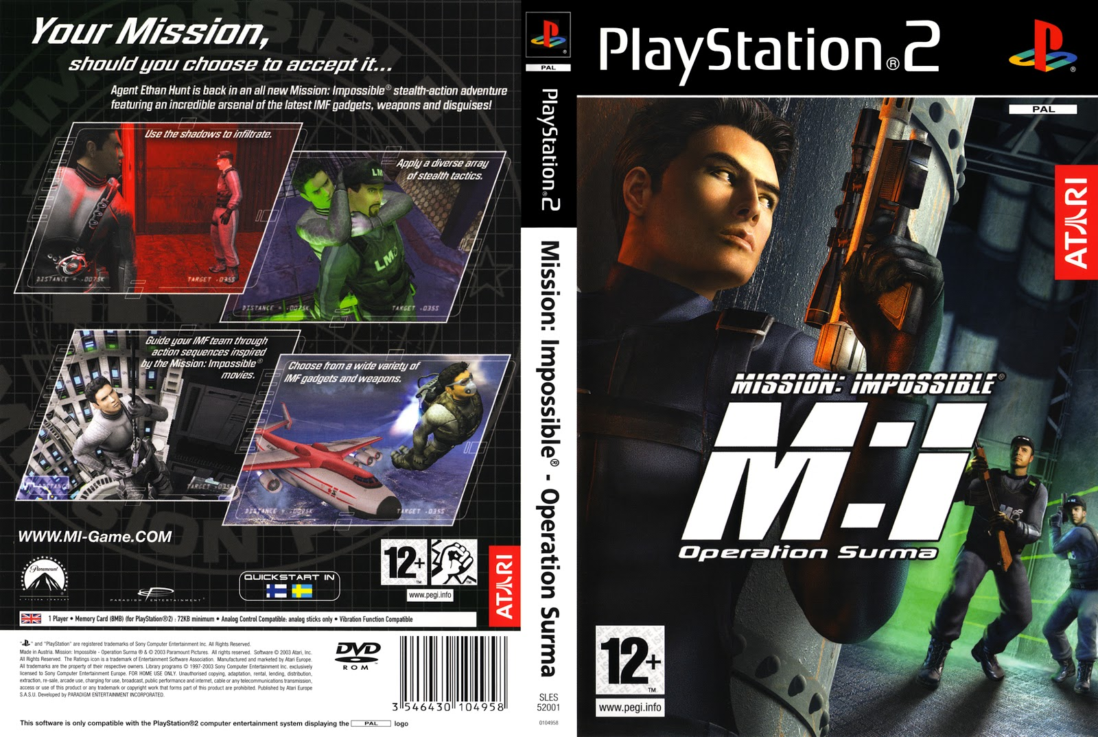 Ps2 mission impossible operation surma