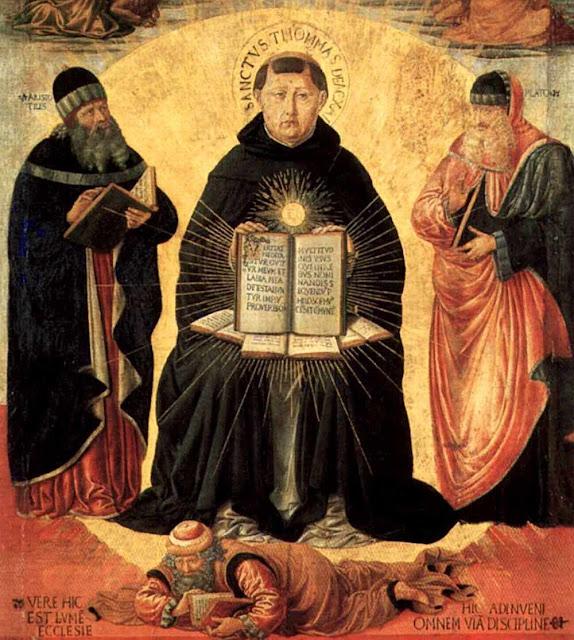 São Tomás de Aquino esmaga os heréticos, Benozzo Gozzoli