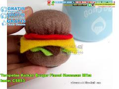 Tempelan Kulkas Burger Flanel Kemasan Mika