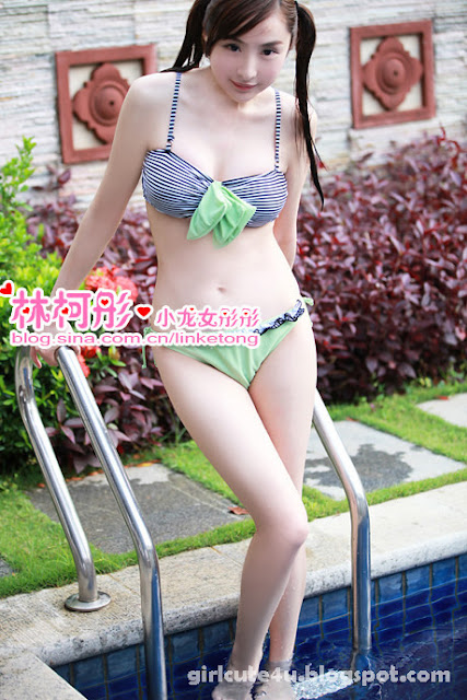3 Summer fresh bikini-Linke Tong-very cute asian girl-girlcute4u.blogspot.com