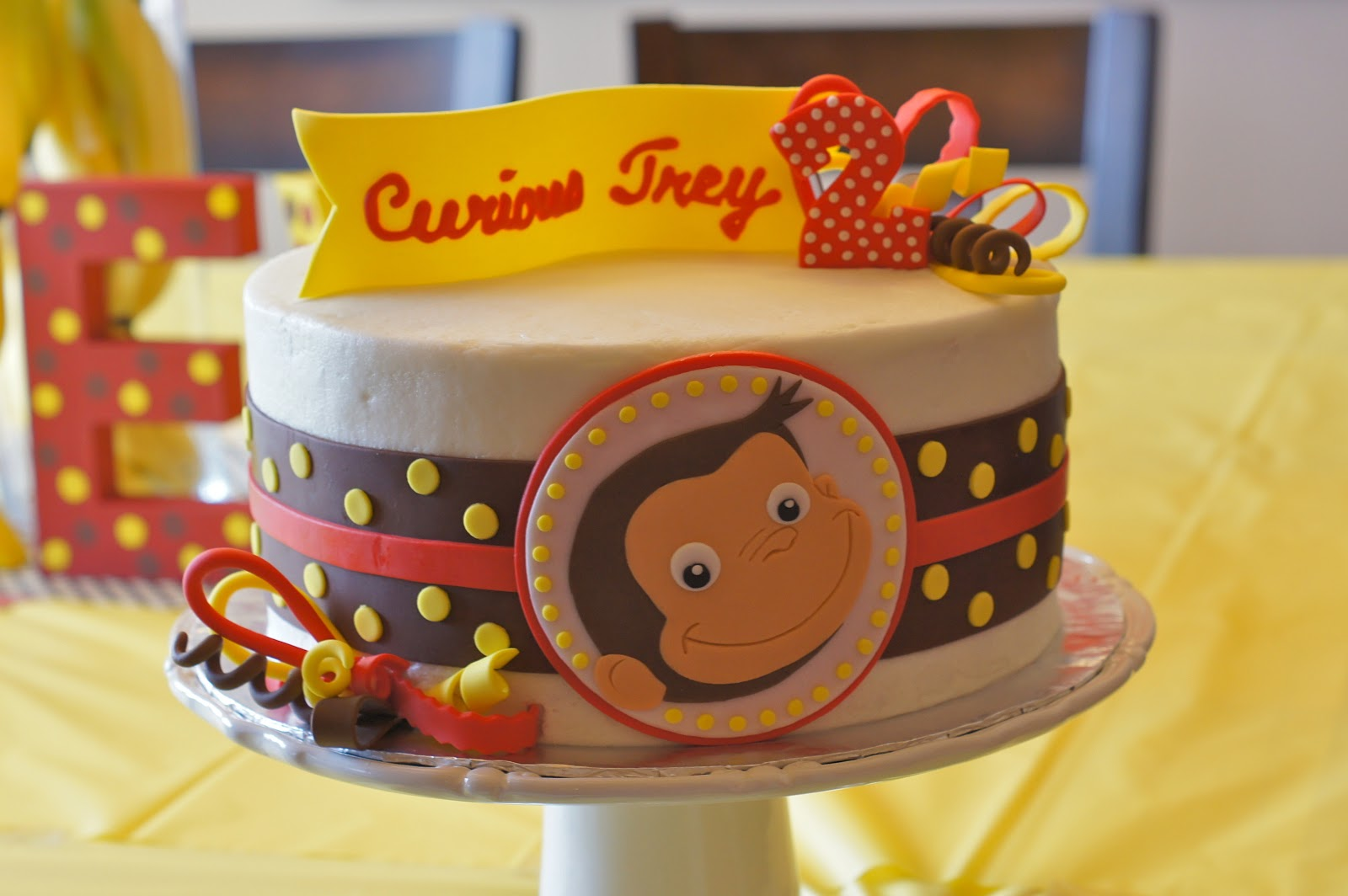 Curious George Fire Truck Cake