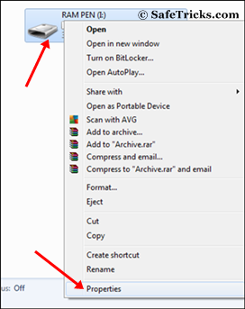 Pen drive properties - Increase Ram With USB PenDrive In Windows XP, 7 And 8