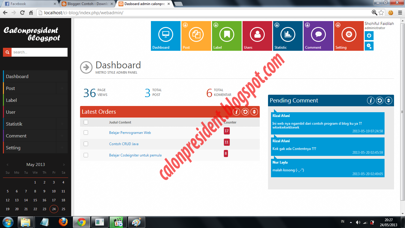 Tutorial Codeigniter : Content Management System (CMS