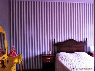 como pintar parede com listras decoração cinza e amarelo