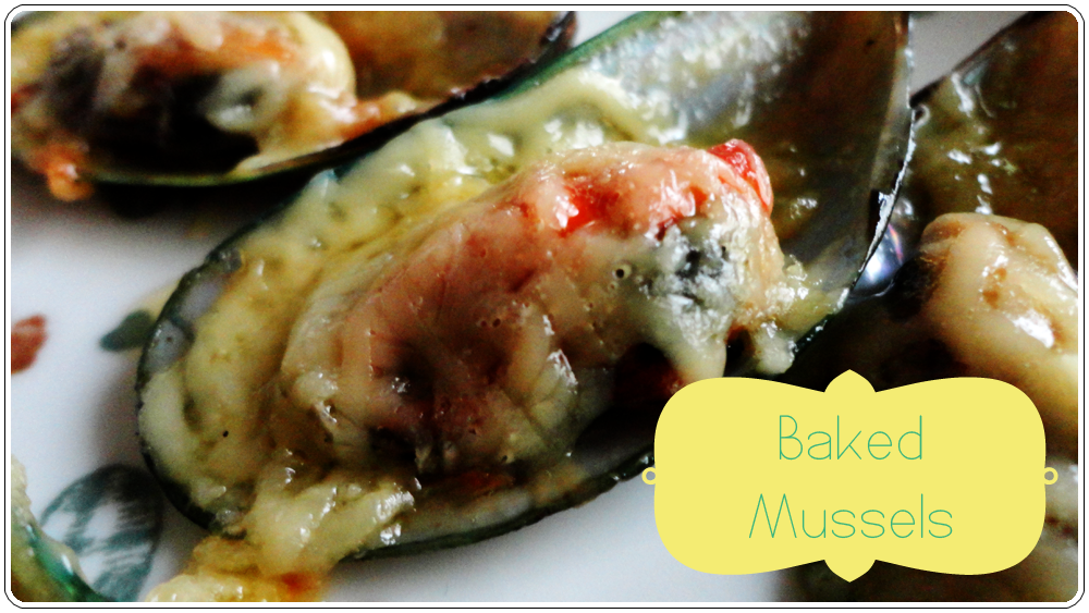 Baked Tahong (Baked Mussels)