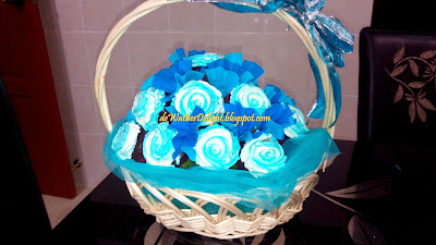my first cupcake basket and hantaran cake muhd hafiz