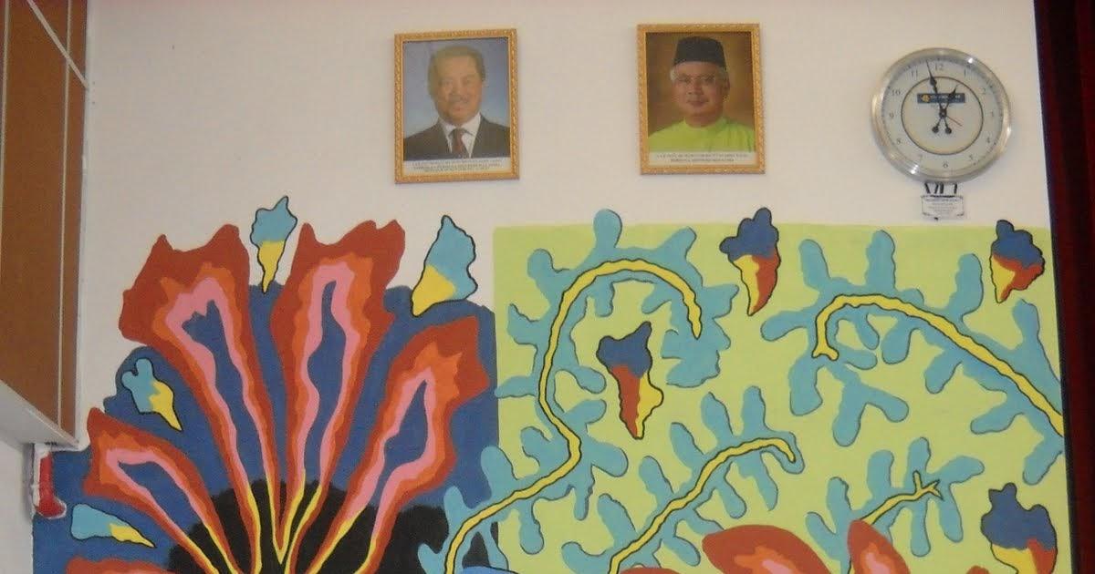 Batik sutera for Mural sekolah rendah